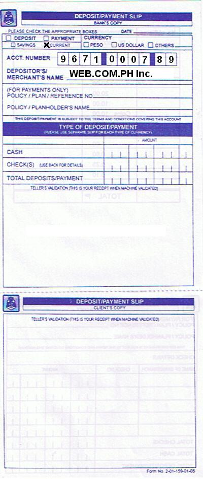 printable bank of america deposit slip html
